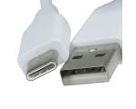 USB TYPE C1 LAADIMISJUHE (USB TYPE-C kaabel, 1m, valge)