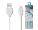 microUSB LAADIMISJUHE (REMAX USB kaabel, 1m, valge)