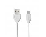 USB TYPE C1 LAADIMISJUHE (REMAX USB TYPE-C kaabel, 1m, valge)
